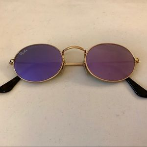 11f0c45542 Ray-Ban Accessories - Ray-Ban oval flat lilac lenses gold frame NWOT
